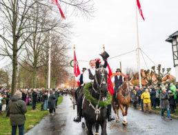 Dragør Fastelavnsforenings tøndeslagning søndag den 23. februar. Foto: Torben Stender.