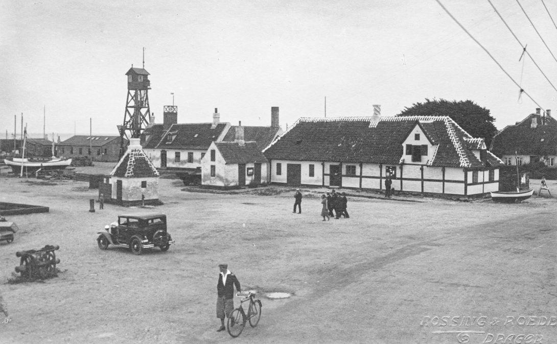Udsigten fra Dragør Strandhotel anno 1930. Foto: Historisk Arkiv Dragør.