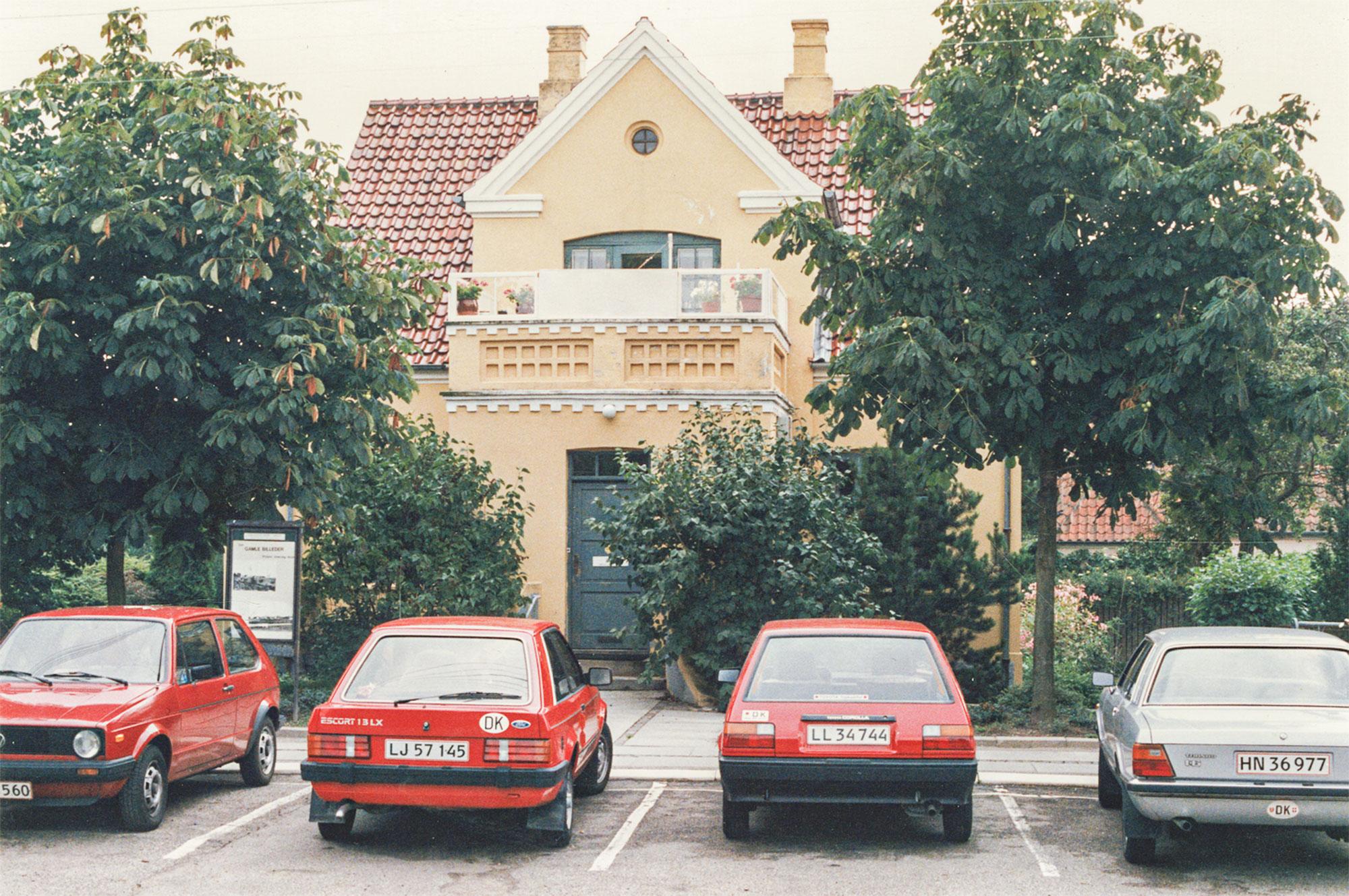 Fra 1975 til 2001 havde lokalarkivet adresse på Stationsvej 9. Billedet af facaden stammer fra 1981. Foto: Historisk Arkiv Dragør.