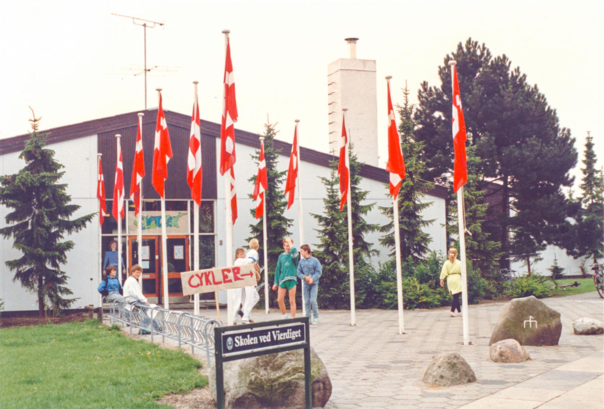 Skolens 25-års-jubilæum i 1988. Foto: Historisk Arkiv Dragør.