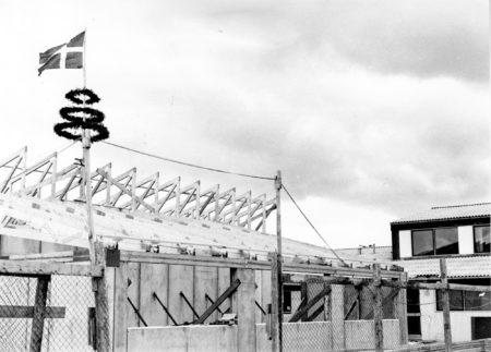Rejsegilde ved udvidelsen 1975. Foto: Historisk Arkiv Dragør.