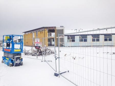 Nedrivningen af skolen påbegyndes i vinteren 2016.