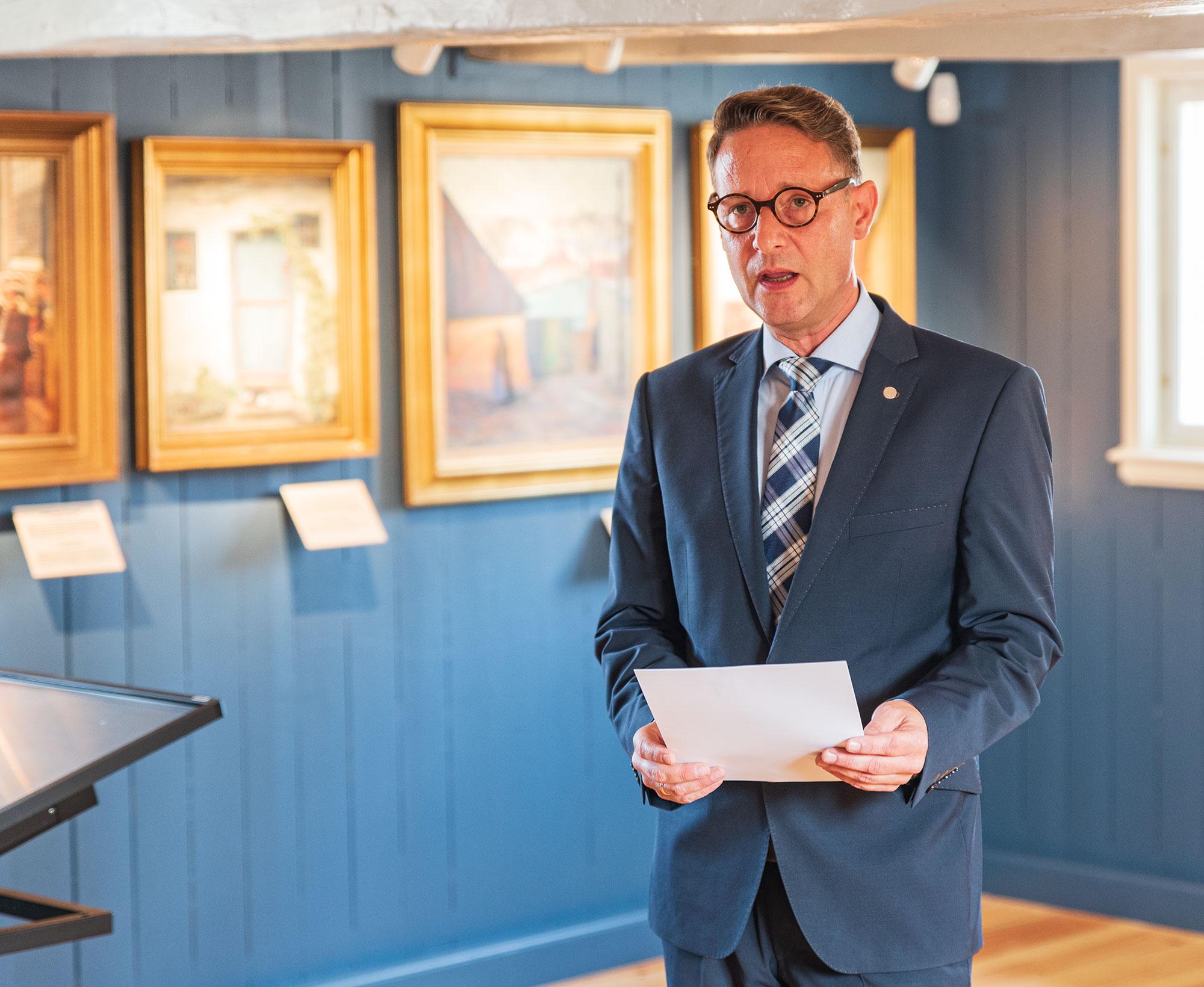 Martin Hans Borg taler. Foto: Thomas Mose.
