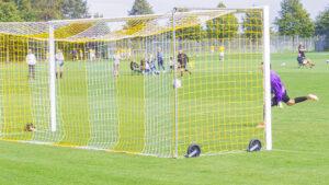 Bolden går i mål til 4–0 på Glendorfs »desperate« afslutning.