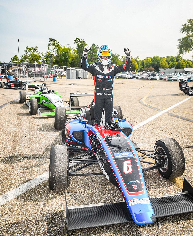 Efter nogle problematiske løb med uheld og fejl er Christian Rasmussen tilbage på vinderkurs.