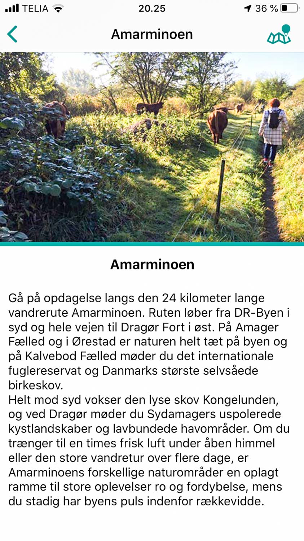 Fra Naturpark Amagers app.