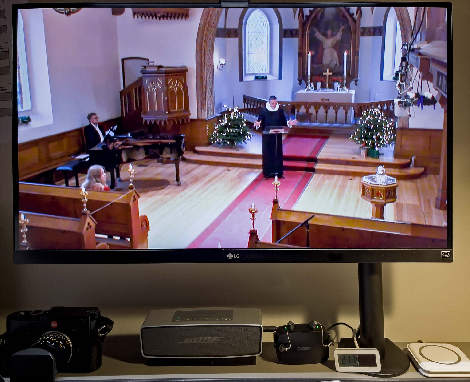 Streaming af Dragør Kirkes julegudstjeneste ... Foto: TorbenSteder.