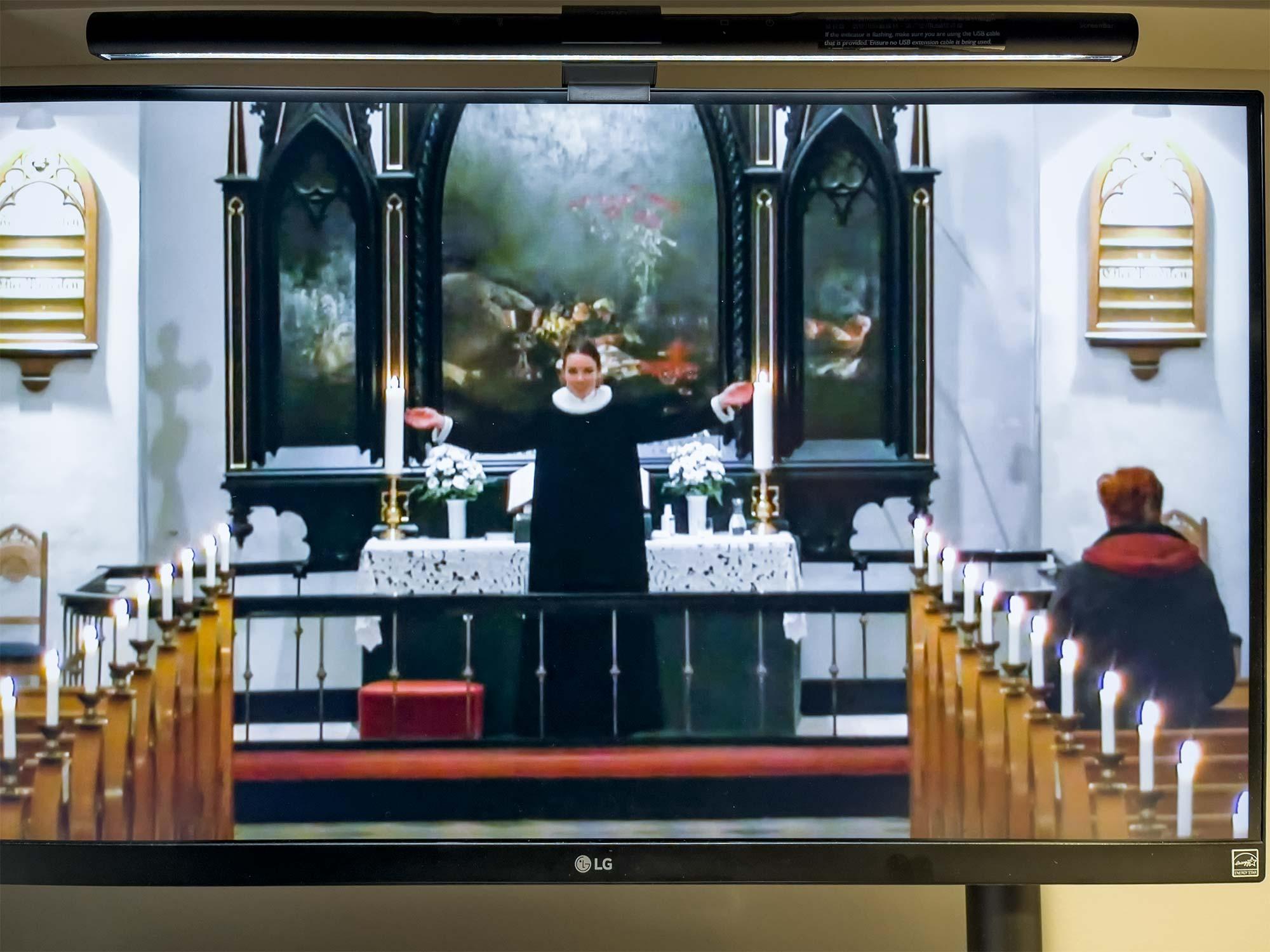 ... også Store Magleby Kirkes julegudstjeneste er online. Foto: TorbenStender.