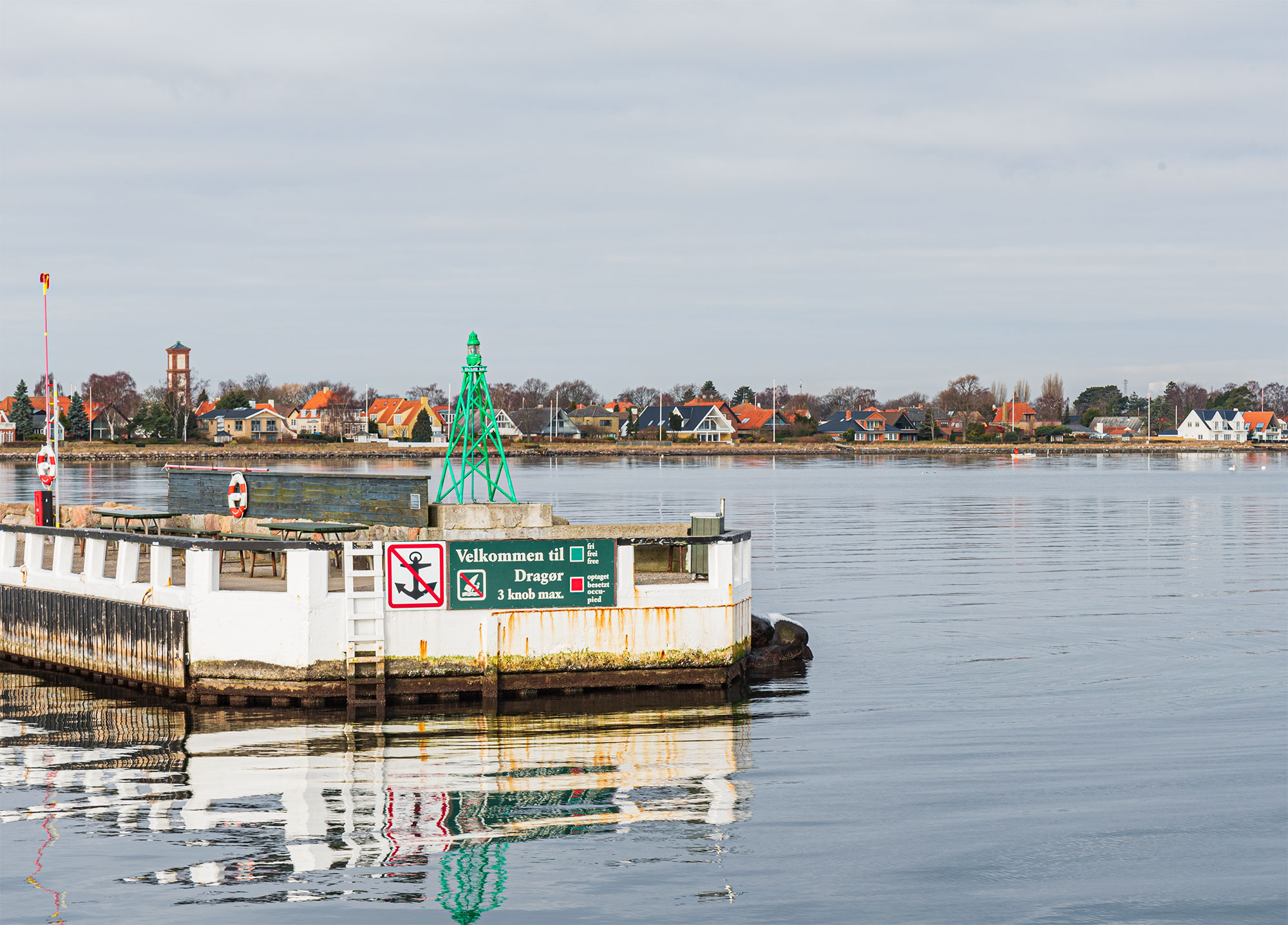 Indsejlingen til Dragør Havn. Foto: Thomas Mose.